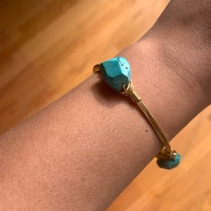 New Bourbon and Bowties Turquoise Bangle bracelet